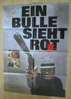 Filmplakat - Ein Bulle sieht rot ( Michel Bouquet , Francoise Fabian )