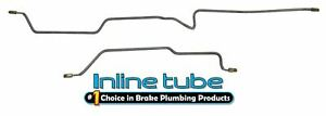 Fits 97-06 Jeep Wrangler TJ Preformed Hydraulic Rear Axle Brake Lines Stainless