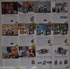 1960 KODAK advertisements x11, Retina Reflex projectors cameras 11 different ads