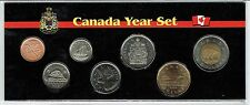 2012 Canadian Brilliant Uncirculated 7 Coin Set;Type I $1, $2 & Zinc Cent!