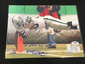 🔥Darren McFadden Autographed 8x10 PHOTO Oakland Raiders PSA DNA 1st NFL TD Rare