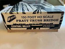 HO Scale Central Valley 150ft. Pratt Truss Bridge Kit new!