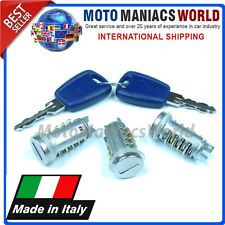 FIAT PUNTO 1 MK1 93-99 Serratura Set Cilindretto & Chiavi MADE IN ITALY x 3 pz