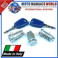 FIAT PANDA 2 PUNTO 2 Porte Set Bloccaggio Cilindro & Chiavi MADE IN ITALIA x