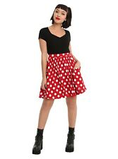 DISNEY MINNIE MOUSE Red White POLKA DOT Cosplay Costume DRESS JRS SMALL NWT