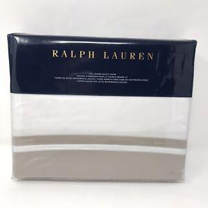 Ralph Lauren Bowery Cotton Sateen FULL/QUEEN Duvet Cover Vintage Silver