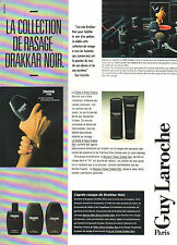 Publicité Advertising 1985  Parfum DRAKKAR NOIR de GUY LAROCHE