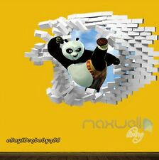 Kungfu Panda Split Kick 3D Wall Decals Removable Stickers Kids Decor Party Gift