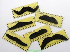 6 fancy dress MOUSTACHES Stick on Fake Tash Moustache False Mexican Movember