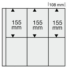 10 SAFE 6021 Ergänzungsblätter SCHWARZ Postkartenhüllen 6x 108x155mm