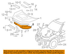TOYOTA OEM 03-05 RAV4 Hood-Insulation Pad Liner Heat Shield 5334142051