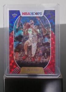 Lonzo Ball - NBA Hoops 20-21 - Base - Hyper Red - SP #83/99