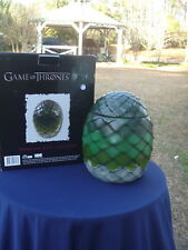 Game of Thrones Dragon Egg Canister Cookie Jar in Original Box 2014 HBO