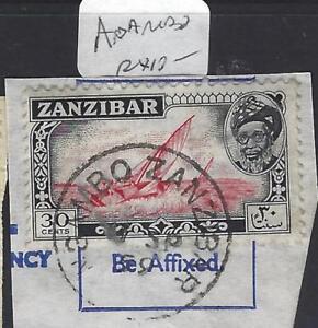 ZANZIBAR  (PP2510B)   SULTAN 30C PIECE SG 363 NGAMBO SINGLE RING CDS VFU