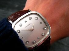 1970's LONGINES L18 AS 1727 Vintage Diamond Dial Retro Mens 34mm Watch