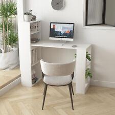 More details for computer table with shelves home storage furniture pc office desk workstation uk