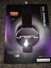 Sol Republic Headphones Tracks V8 Black New