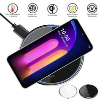 For LG V60/V50/V40 ThinQ 15W Qi Wireless Charger Pad Dock Charging Mat Station