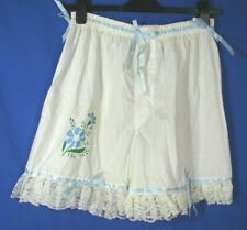 VTG JCPenney's BLOOMERS SISSY PRISSY Blue/White RIBBONS Upcycled Boxers SZ 36