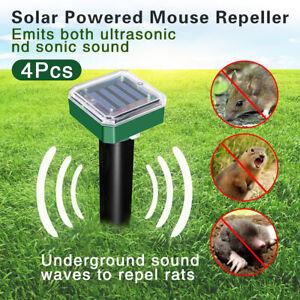 4X Solar Power Ultrasonic Pest Animal Repeller Garden Cat Dog Pet Scarer Control