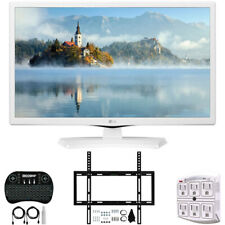 "LG 24LM520D-WU 24"" HD TV Monitor (2019) w/ Wall Mounting Bundle"
