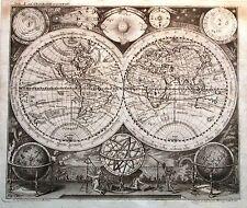 Antique map, Planisphaerium Terrestre Cum Globi Du Coeleste