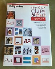 Creating Keepsakes Creative Clips & Font Cd For Vacation & Travel