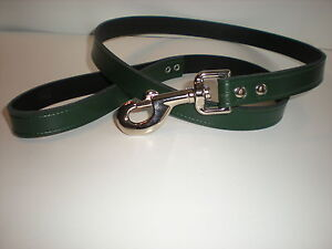 Strong leather dog leads in 8 different colours 20mm