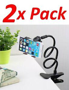 2 Flexible Lazy Bracket Mobile Phone Stand Holder Bed Desk For iPhone Samsung LG