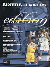 Philadelphia 76ers Los Angeles Lakers NBA Championship Official Program AI Kobe