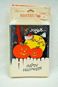 New VTG Halloween Party Invitations PUMPKIN JACK O LANTERN American Greeting