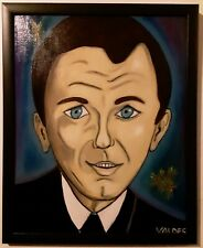 DMVAG  THE SINATRA ORIGINAL PORTRAIT OIL PAINTING 16x20 in wood frame signed