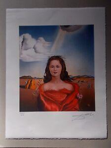 """Lithographie , Salvador Dali  """" Portrait de Marie Sigall """" signée et numérotée"""