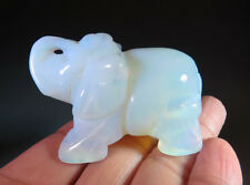 "2"" Gorgeous Opalite Crystal Carving Elephant Nice Gift *8993"