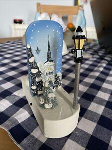 M&S Light Up Musical Christmas Scene Tealight Holder