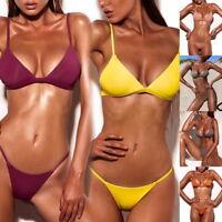 Sexy Damen Bikini-Set Badeanzug Bademode Push Up Schwimmanzug Tankini Strand