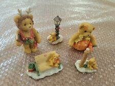 Lot of 5 Cherished Teddies Collectibles Priscilla Hillman Teddy Bear Figurines