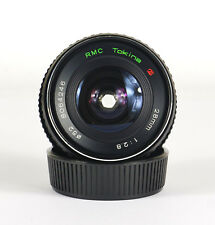 RMC TOKINA 28mm f2.8 WIDE ANGLE LENS. FOR CONTAX/YASHICA. MADE IN JAPAN. #4246