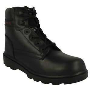 ZX17 ZEPHYR MENS LACE UP STEEL TOE CAP ROUND TOE LEATHER SAFETY WORK BOOTS