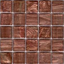 25pcs GM10 Copper Bisazza Le Gemme Italian Glass Mosaic Tiles 2cm x 2cm