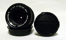 Vintage MAMIYA-SEKOR E f/1.7 50MM Prime Lens SLR Film Camera DSLR Micro w/Caps