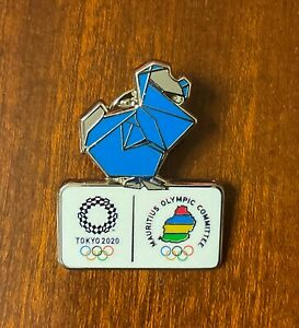 Tokyo 2020 Mauritius dated NOC pin