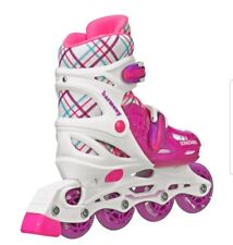 Roller Derby Harmony Inline Skates Girls Ez Push Button Adjustable Sizing 3-6