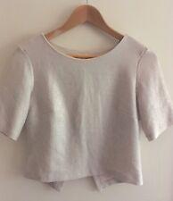 Miss Selfridge Size 8 Pink Gold Metallic Blouse Top