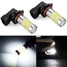 JDM ASTAR 2x 9145 9140 H10 Super White 144-SMD LED Bulbs For Driving Fog Light