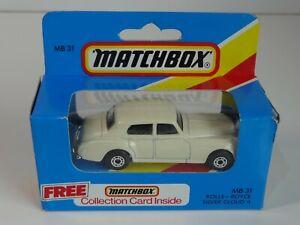 (VG) Matchbox ROLLS ROYCE SILVER CLOUD II - 31