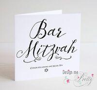 2 X Judaica Greeting Card Bar Mitzvah Wedding New born Mazel Tov Russian Hebrew