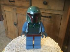 "Pre Owned Lego Star Wars Alarm Clock.  9.5""H.  Boba Fett"