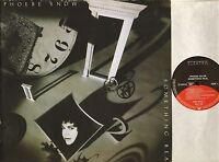 PHOEBE SNOW something real EKT 56 promo stickered elektra 1989 LP PS EX+/EX