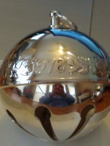 Wallace 1978 Silver Plate Bell/Ornament